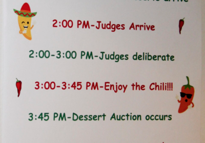 2020 Chili Cookoff & Dessert Auction - Feb. 1, 2020