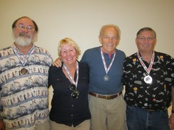 3rd place- Rick Shumway, 1st place- Lyn Bolin, 2nd place- Bart Duerr, Popular Vote Winner- Jim Worcester